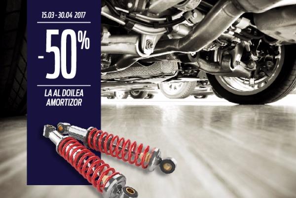 Discount de 50% pentru al doilea amortizor achizitionat in service-urile Tiriac Auto