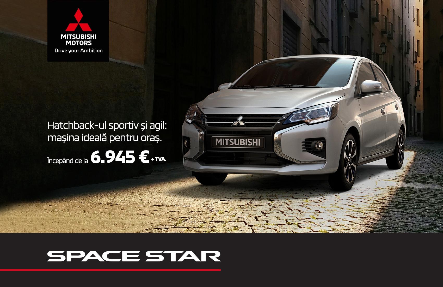 Mitsubishi Space Star - de la 6.945 € + TVA prin programul Rabla 2020