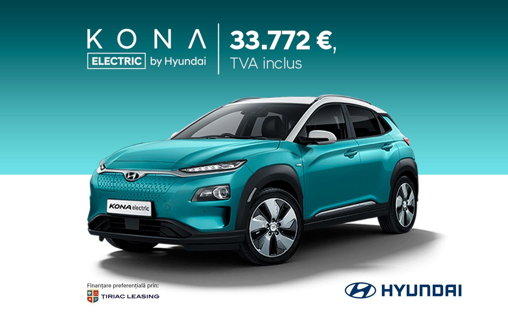 KONA ELECTRIC - 33.772 €, TVA inclus