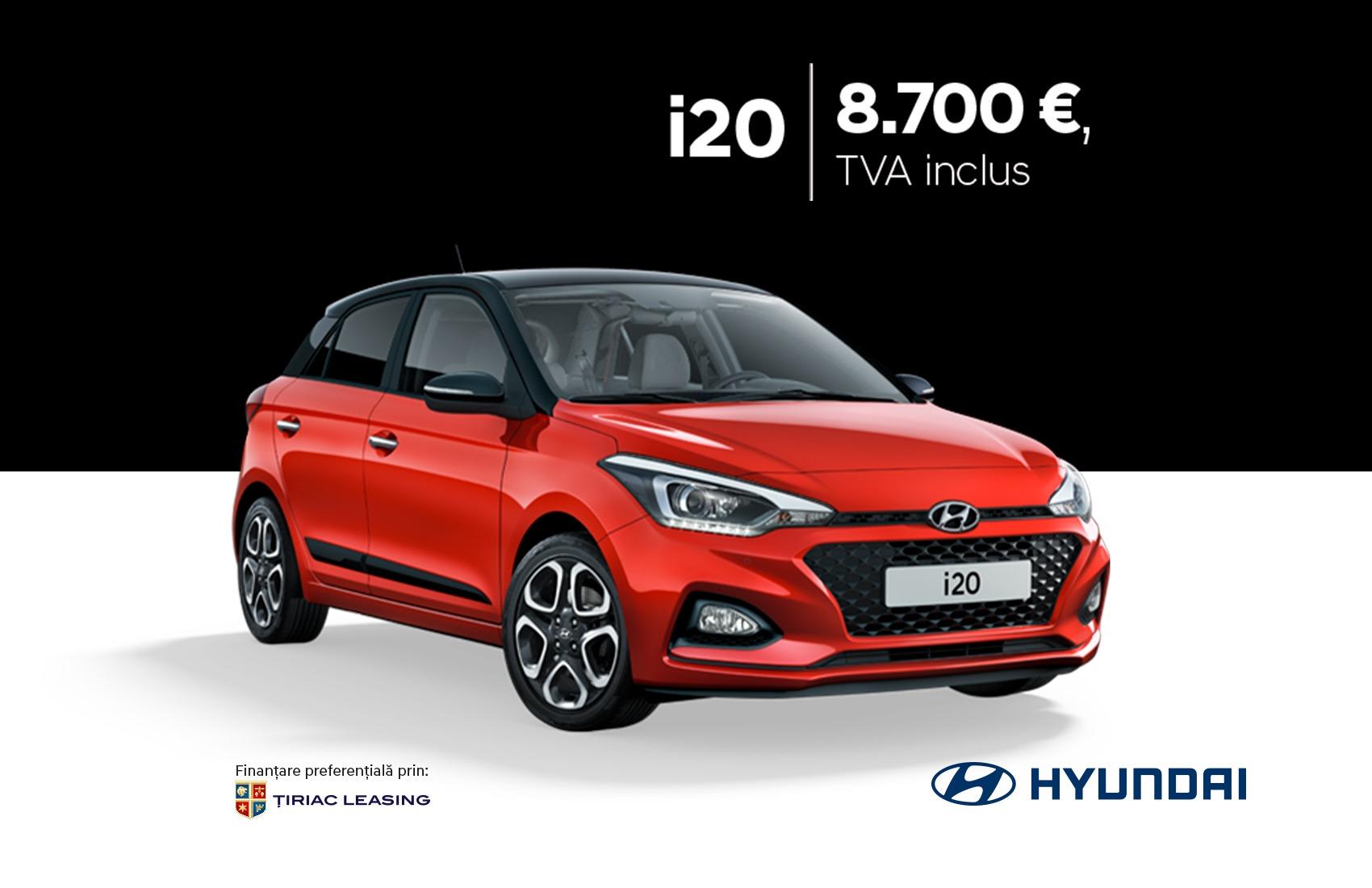 Hyundai i20 prin programul Remat: 8.700 €, TVA inclus