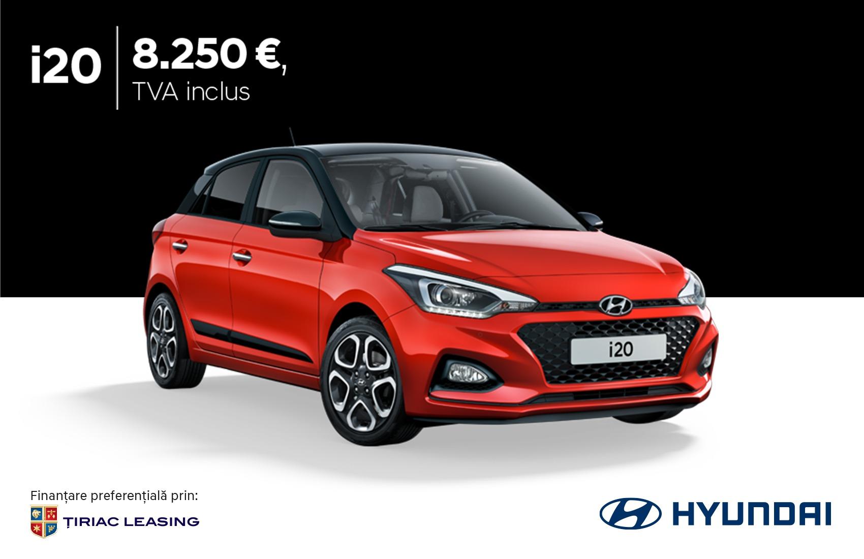 Hyundai i20 prin programul Remat: 8.250 €, TVA inclus
