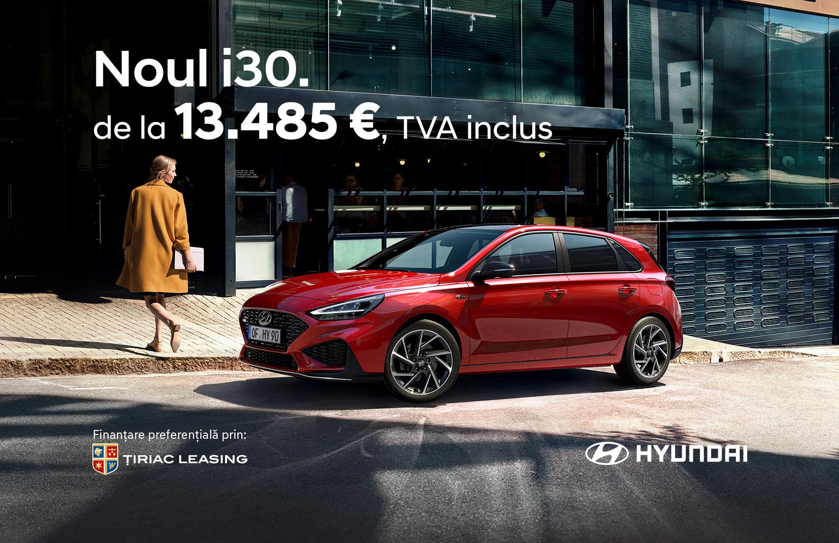 Noul Hyundai i30. Mereu pregatit pentru tine.