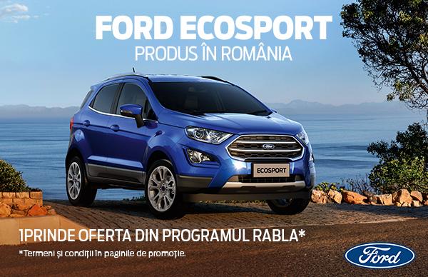 Ford Ecosport - 14.980 EUR, TVA inclus, prin Programul REMAT, cu LIVRARE RAPIDA!