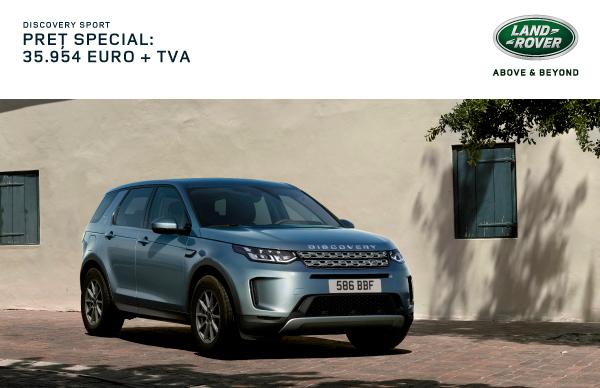 Oferta Speciala Finantare: Discovery Sport 35.954 EUR + TVA