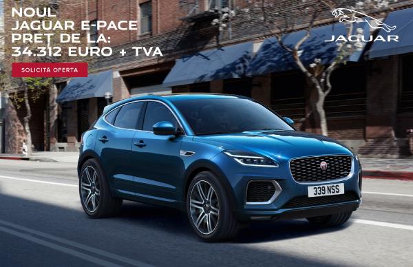 Oferta Speciala Finantare: Jaguar E-PACE, 34.312 euro + TVA