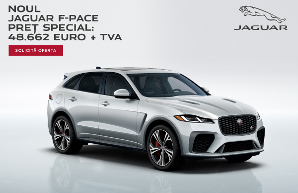 Oferta Speciala Finantare: Jaguar F-PACE, 48.662 euro + TVA