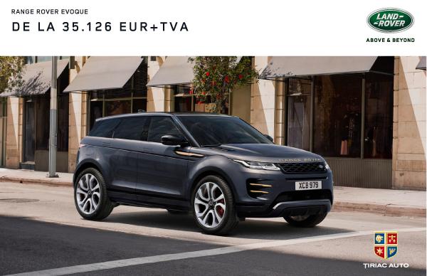 Oferta Speciala Finantare: Range Rover Evoque 35.126 EUR + TVA