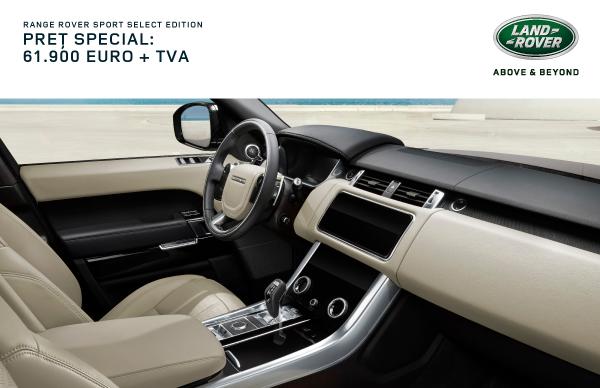 Oferta Speciala Finantare: Range Rover Sport 61.900 EUR + TVA