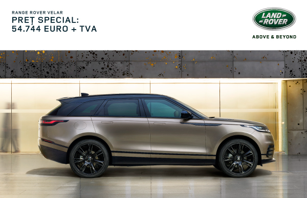 Oferta Speciala Finantare: Range Rover Velar 54.744 EUR + TVA