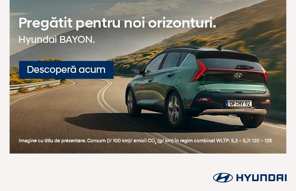 Pregatit pentru noi orizonturi: Hyundai BAYON de la 12,598 € prin programul Remat 2021