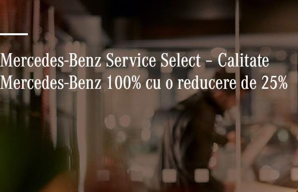 Mercedes-Benz Service Select – Calitate Mercedes-Benz 100% cu o reducere de 25%