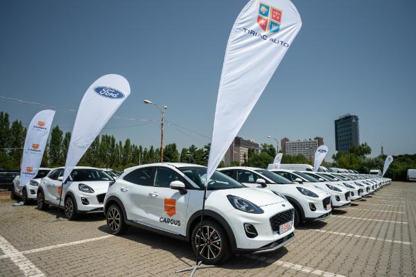 Cargus investește peste 1 milion de euro în extinderea flotei, printr-un parteneriat cu Țiriac Auto – distribuitor autorizat Ford