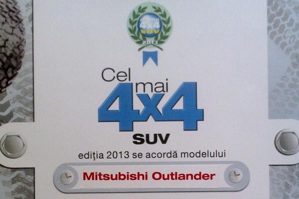 Cel mai 4x4 SUV 2013 - Mitsubishi Outlander