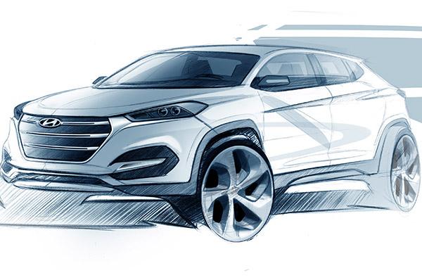 Hyundai dezvaluie primele schite ale noului model Tucson
