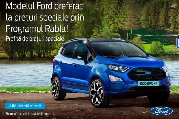 Oferta Ford Ecosport prin Programul Rabla 2019