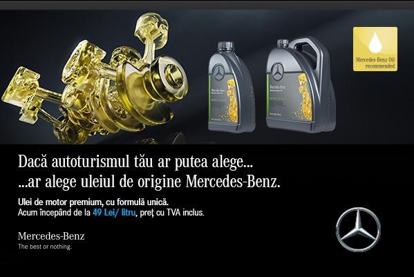 Uleiul de origine Mercedes-Benz. Performanță fără compromis
