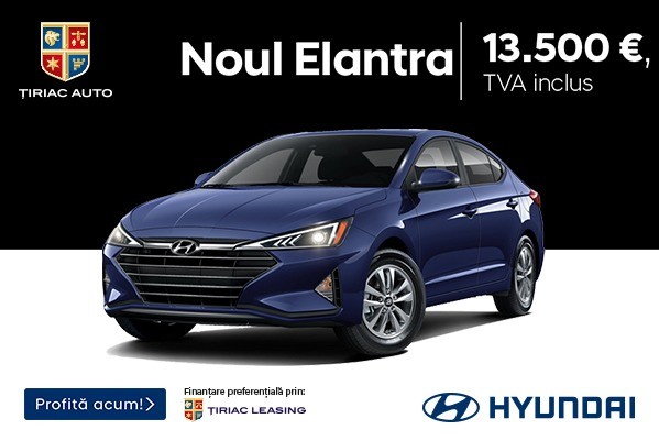 Noul Hyundai Elantra, de la 13.500 EUR, cu TVA inclus