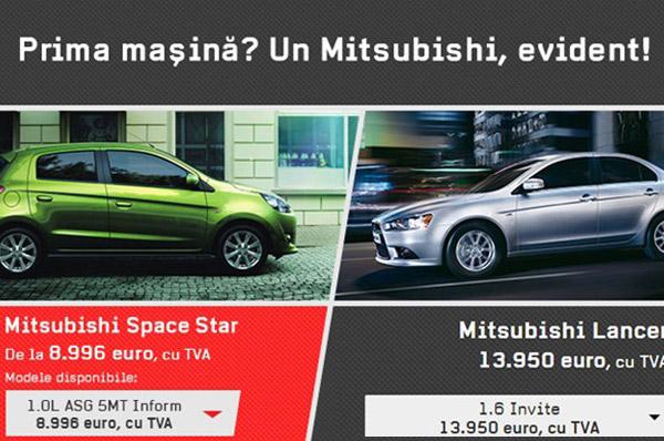 Prima masina? Un Mitsubishi, evident!
